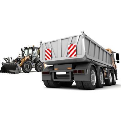 Bagr s nákladním autem